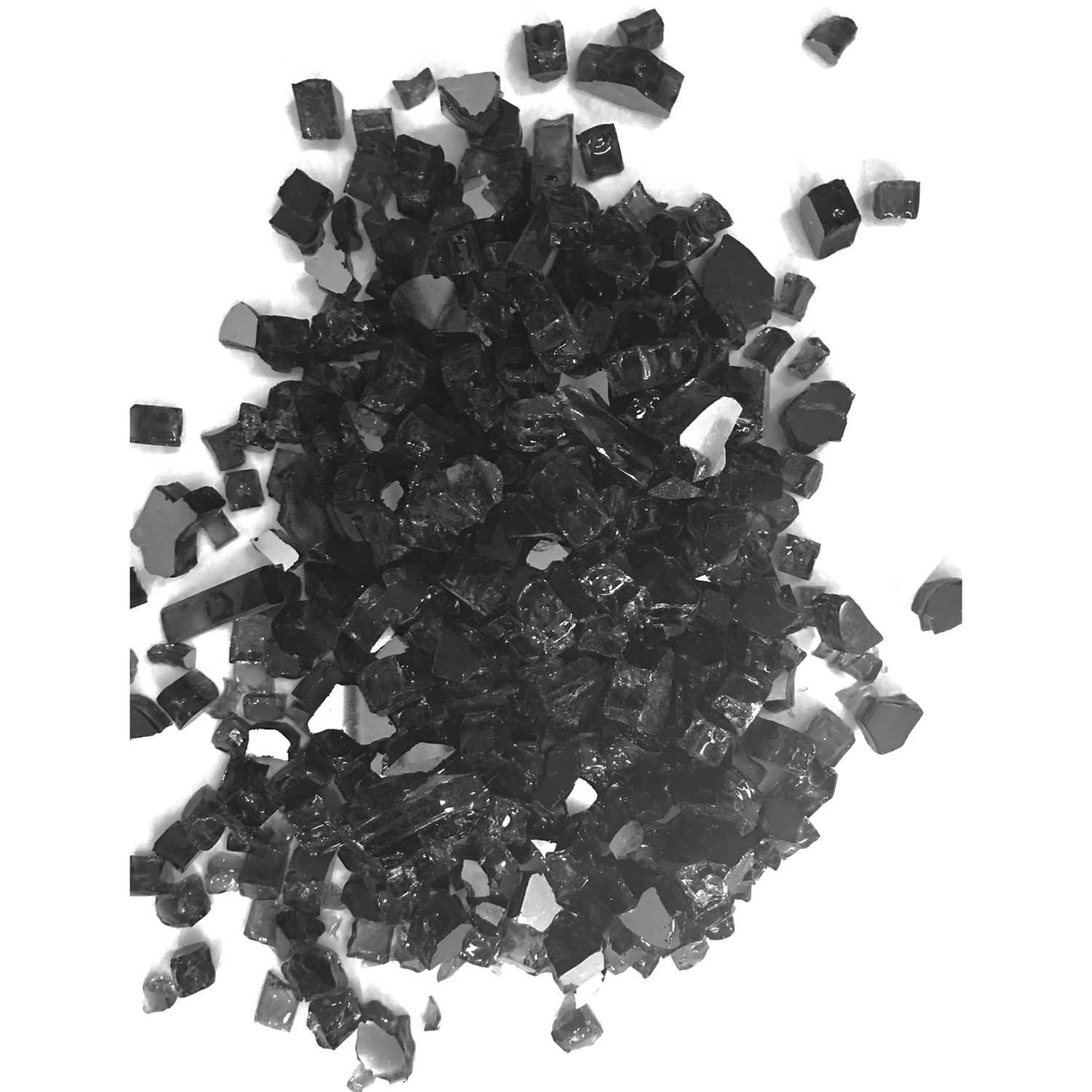 "Element Black Reflective 1/4"" Fire Glass, 10 lbs"