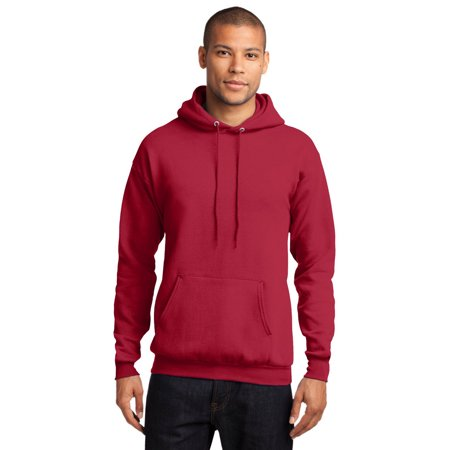 Port Company PC78H Mens Hooded Sweatshirt - Red - Medium