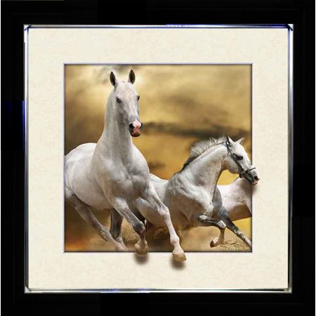 HORSE SINGLE 3D LENTICULAR PICTURE FRAME ZOOMING 3D EFFECT WALL ART