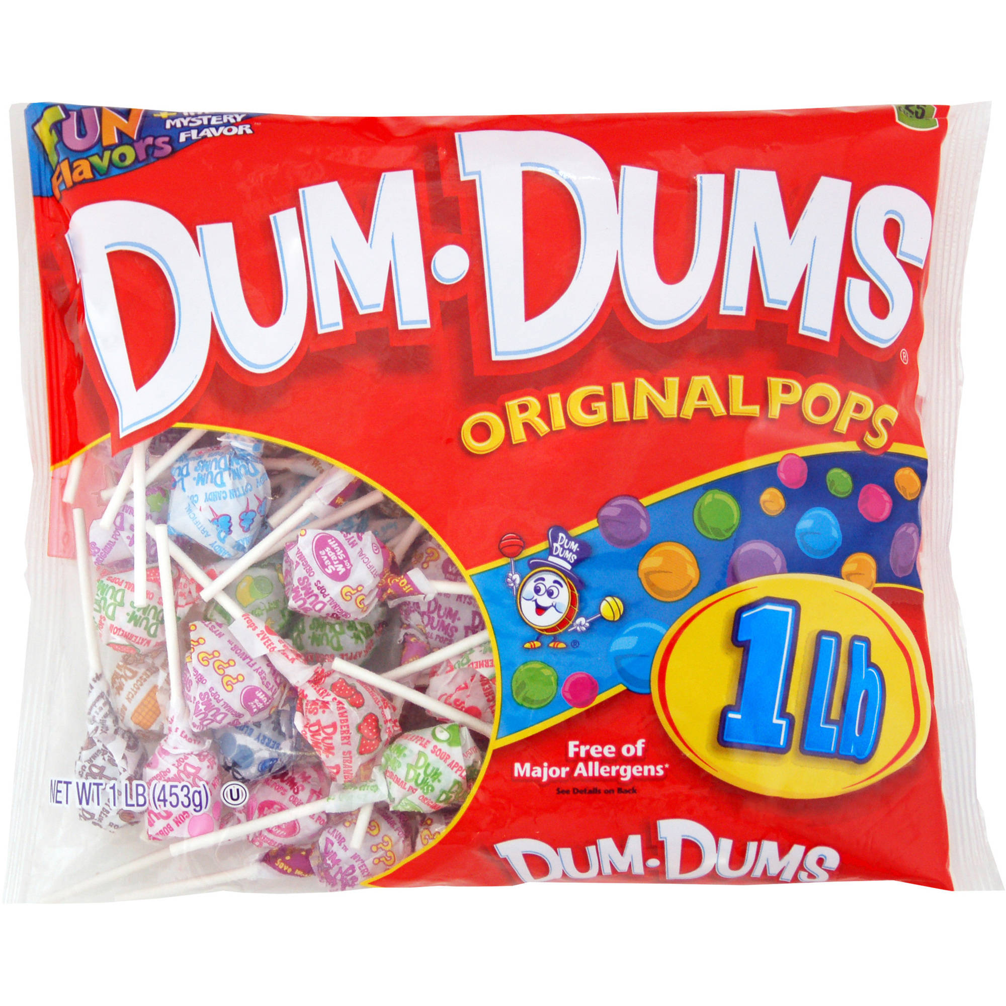 Dum Dum Pops, 1 lb bag