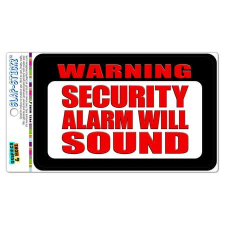 Security Warning Stickers - Warning Security Alarm Will Sound SLAP-STICKZ(TM) Automotive Car Window Locker Bumper Sticker