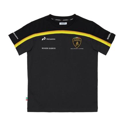 Automobili Lamborghini Gold 2019 Men's Black T-Shirt (XL) (Lamborghini Shirt)