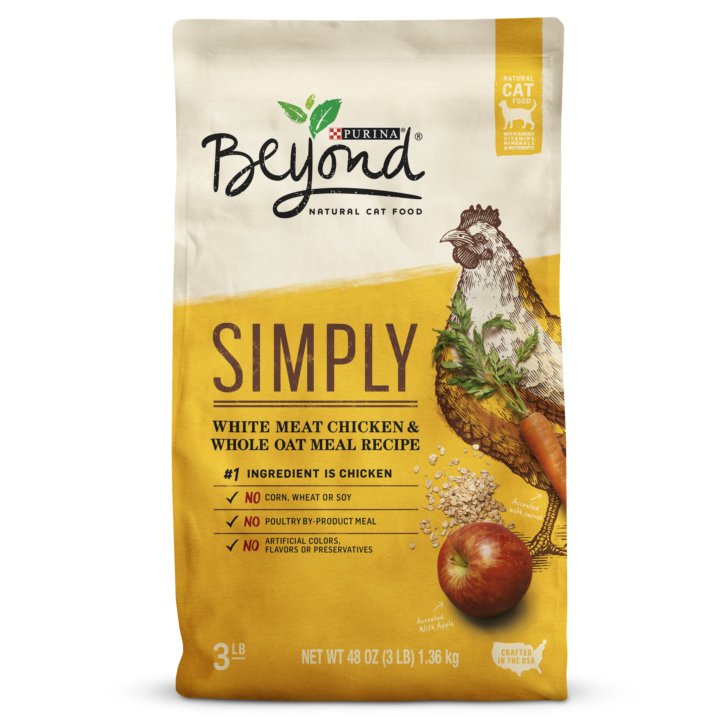 Purina Beyond Simply White Meat Chicken & Whole Oat Adult Dry Cat Food (Various Sizes)