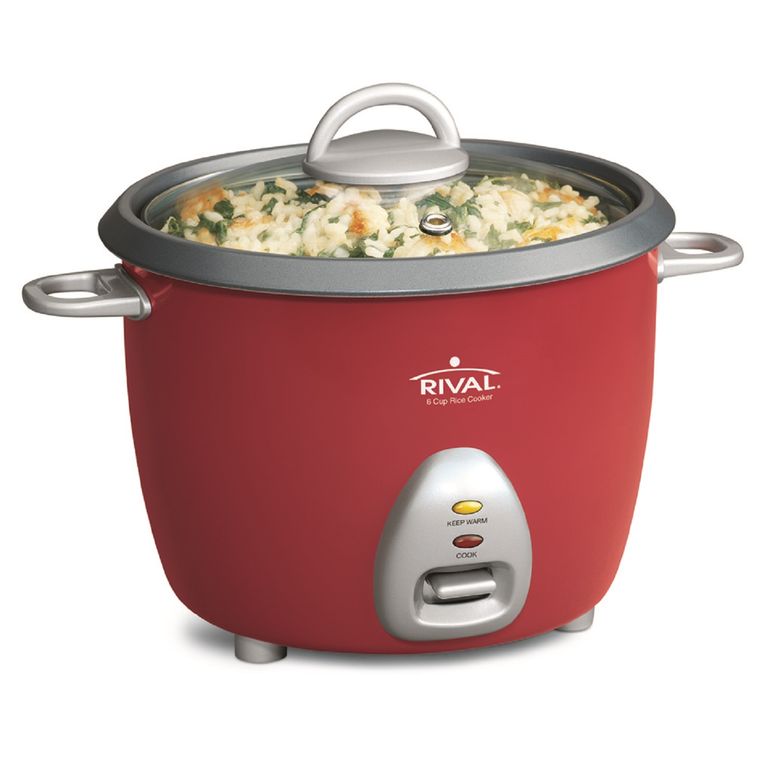 Rival 6-Cup (Cooked) Rice Cooker - Red