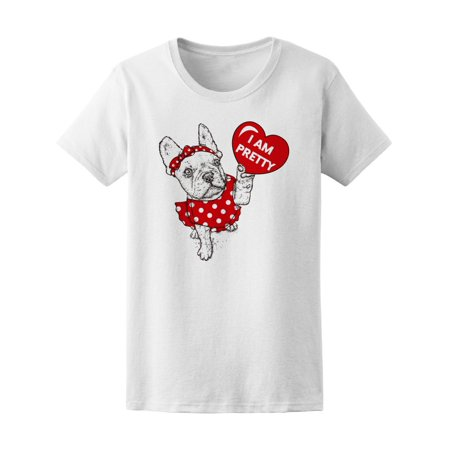 Cute French Bulldog Puppy Dress Tee Women's -Image by - Bulldog Dress