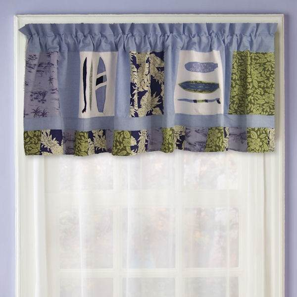 Catch a Wave Curtain Valance