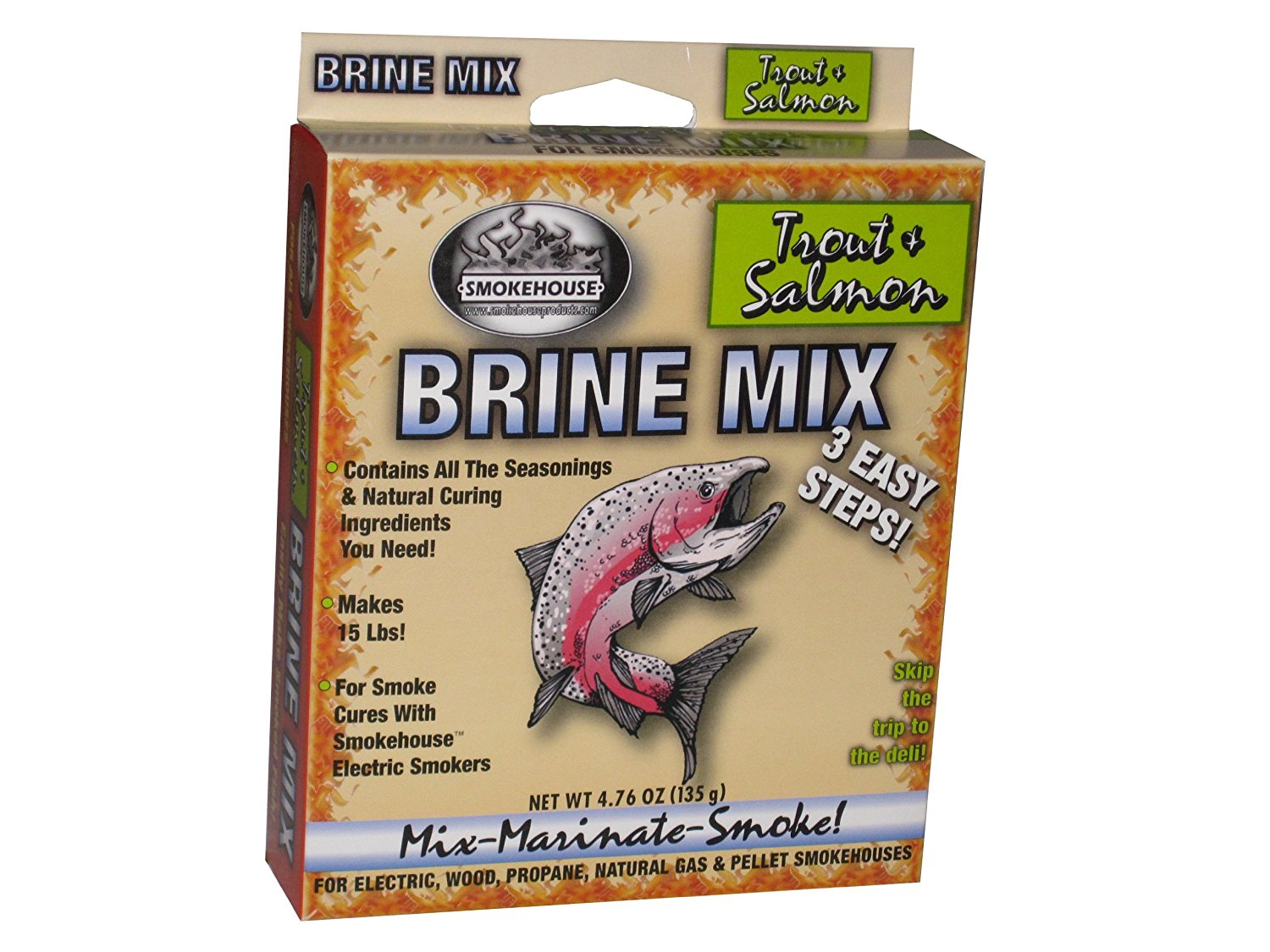 Products Trout-Salmon Flavored Natural Brine Mix..., By SmokeHouse Ship from US by