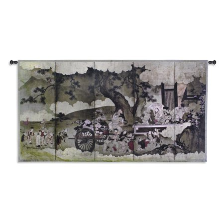 Fine Art Tapestries Seven Gods of Good Fortune and Chinese Children ...