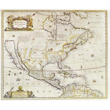 Posterazzi SAL3844490742 North America Ca. 17th C. Maps Poster Print - 18 x 24 in. - image 1 de 1