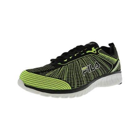 Fila Men's Speedweave Run Ii Neon Green / Black Ankle-High Running Shoe - (Nike Flex Run 2015 Mens Running Shoes)