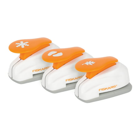 Fiskars Lever Punches, 3 Piece Small Lever Punch