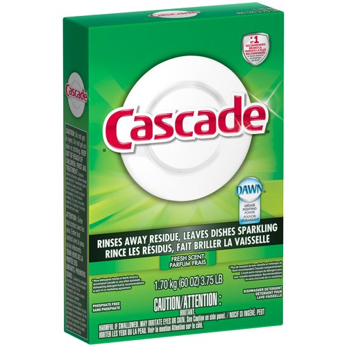 Cascade Fresh Scent Powder Dishwasher Detergent, 60 oz