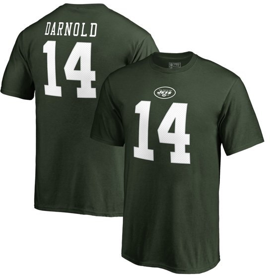 75b7c488 Sam Darnold New York Jets NFL Pro Line by Fanatics Branded Player Authentic  Stack Name & Number T-Shirt - Green - Walmart.com