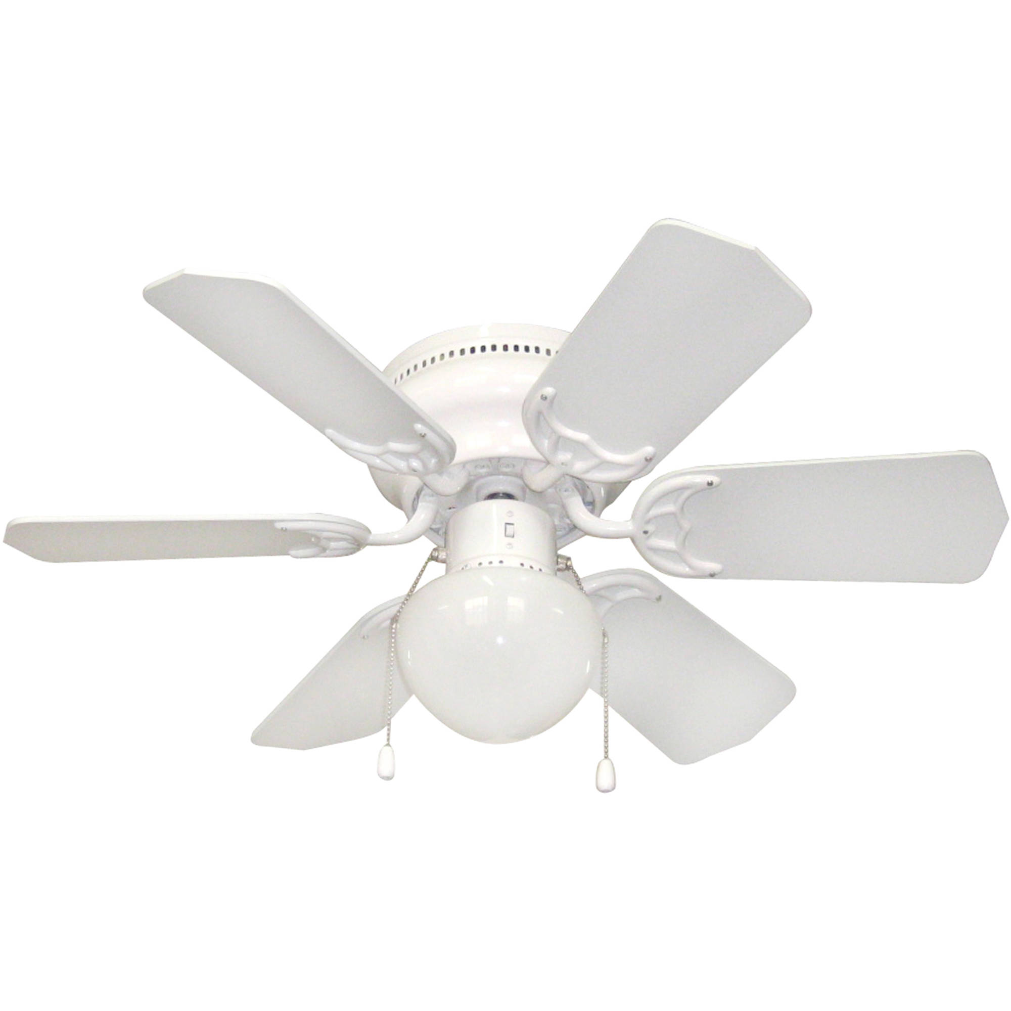 "Litex Industries Vortex Hugger 30"" Hugger Ceiling Fan White"