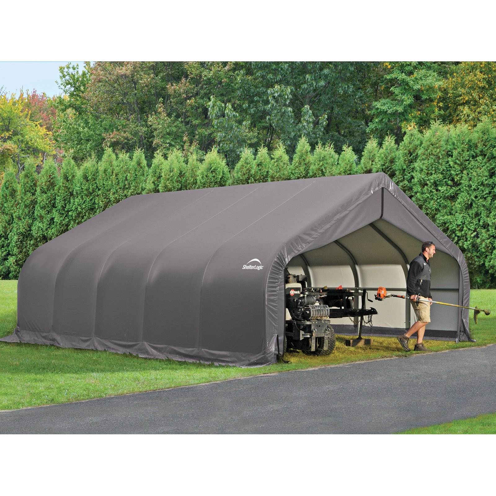 ShelterLogic 18' x 28' x 9' Peak Style Shelter, Green