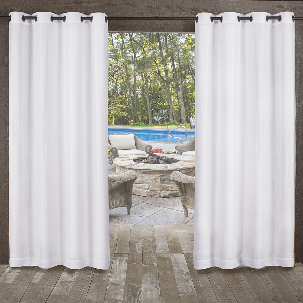 Exclusive Home Curtains 2 Pack Miami Textured Indoor/Outdoor Grommet Top Curtain Panels