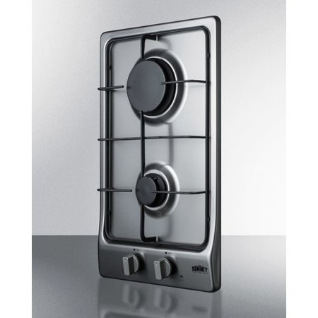 Summit Appliance 11.5'' Gas Cooktop with 2 Burners Biscuit Gas Cooktop Appliance