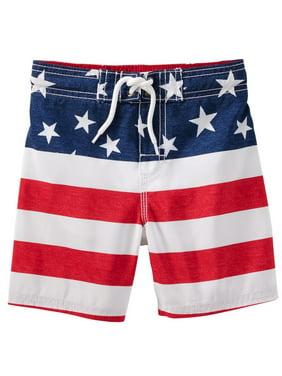 011a64800c91f Product Image OshKosh B'gosh Little Boys' Americana Swim Trunks