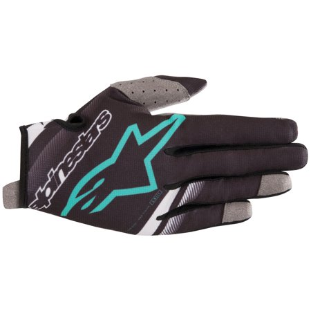 Alpinestars Radar S9 MX Offroad Gloves Black/Teal XL