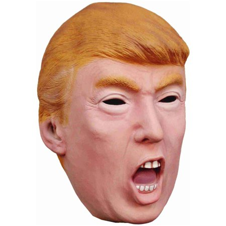 Donald Trump Adult Mask President U.S. Face Halloween Costume Angry Yelling Open