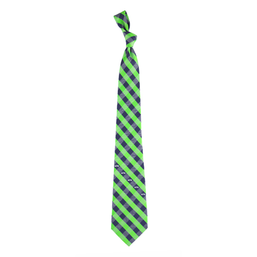 Seattle Seahawks NFL Check Poly Necktie