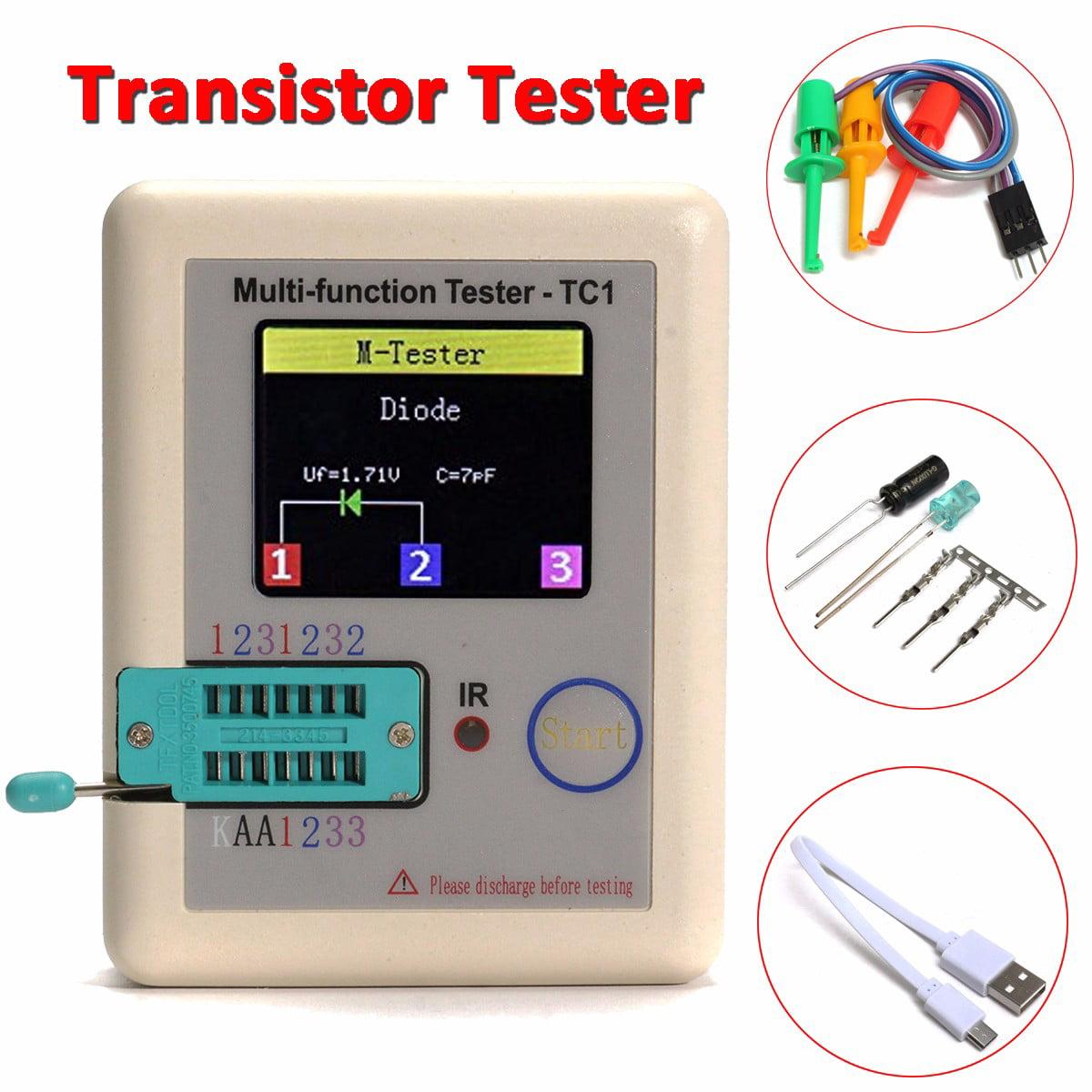35 Tft Transistor Tester Diode Triode Capacitance Meter For Lcr Esr Pnp Npn Mosfet Jfet