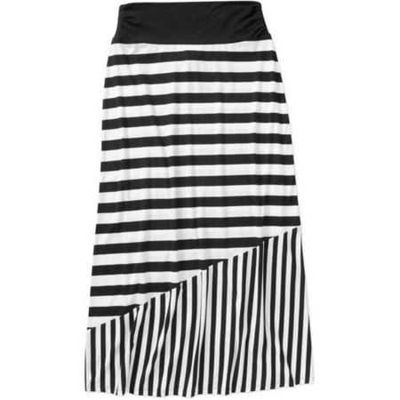 Faded Glory Women's Fashion Maxi Skirt with Shirred Waistband ...