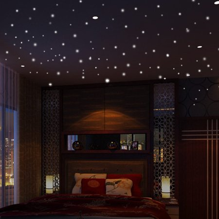Womail® Glow In The Dark Star Wall Stickers 407Pcs Round Dot Luminous Kids Room Décor