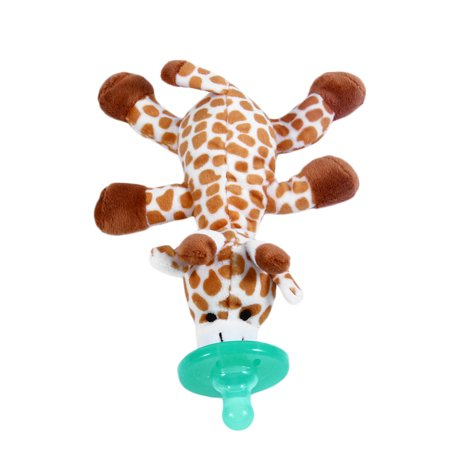 Babyhuggle Giraffe Pacifier   Stuffed Animal Binky  Soft Plush Toy With Detachable Silicone Baby Dummy