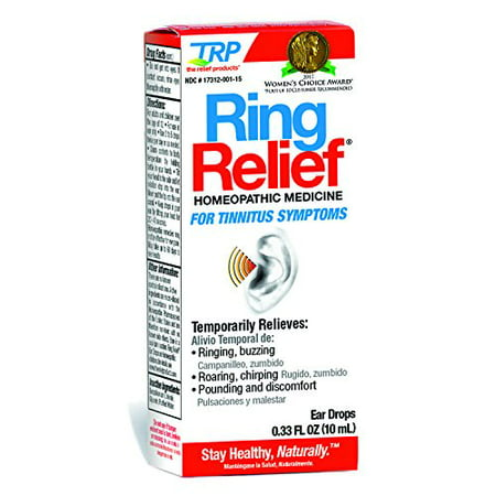 TRP Ring Relief Homeopathic Ear Drops Tinnitus Symptoms .33oz