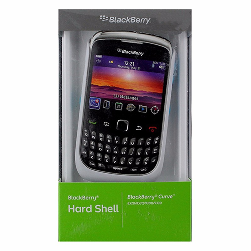 BlackBerry Hard Shell Case for BlackBerry Curve 8520 / 9330 - White / Turquoise