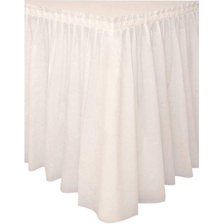 (3 Pack) Plastic Table Skirt, 14 ft, Ivory, 1ct](Table Skirts)