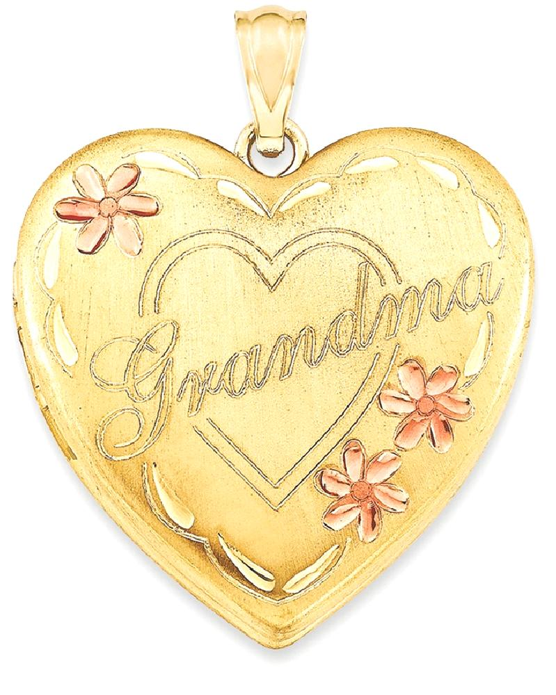 ICE CARATS ICE CARATS 1 20 Gold Filled Grandma 23mm Enameled Heart Photo Pendant Charm Locket Chain Necklace That Holds... by IceCarats