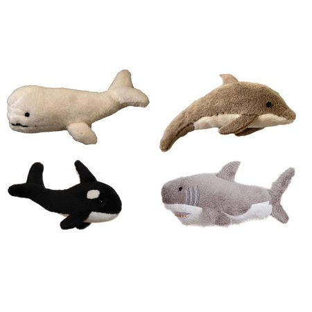 Sealife Magnet Bundle - Beluga Whale, Dolphin, Orca Whale & Great White -