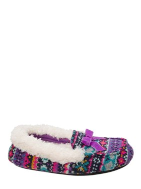 a393db5f330036 Product Image DF by Dearfoams Girls  Sweater Knit Moc Slippers