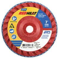 NORTON 63642504883 Flap Disc,7 In x 80 Grit,7/8