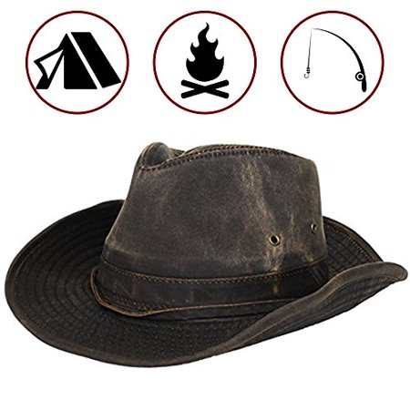 Dorfman-Pacific Weathered Outback Hat With Chin Cord (XXX-Large, Brown) - image 1 de 1