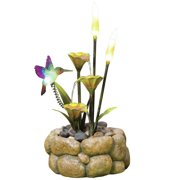 KelKay Resin/Nature Stone Glow Rock Pool Haven Fountain with LED Lights