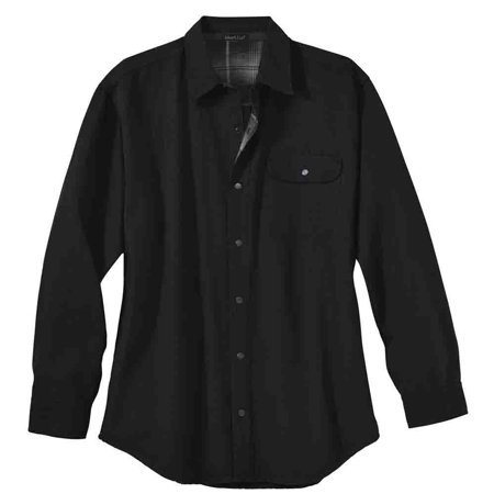 Coast Men Shirts (River's End Mens Canvas & Flannel Shirt Jacket  Casual Outerwear T-Shirt -)