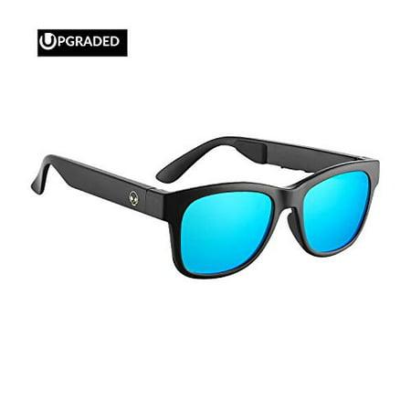 Horizon Outdoor Alien 5 Bone Conduction Glasses Wireless Bluetooth 4.1 Headphones Polarized Sunglasses Myopia Waterproof Wire](Alien Sunglasses)