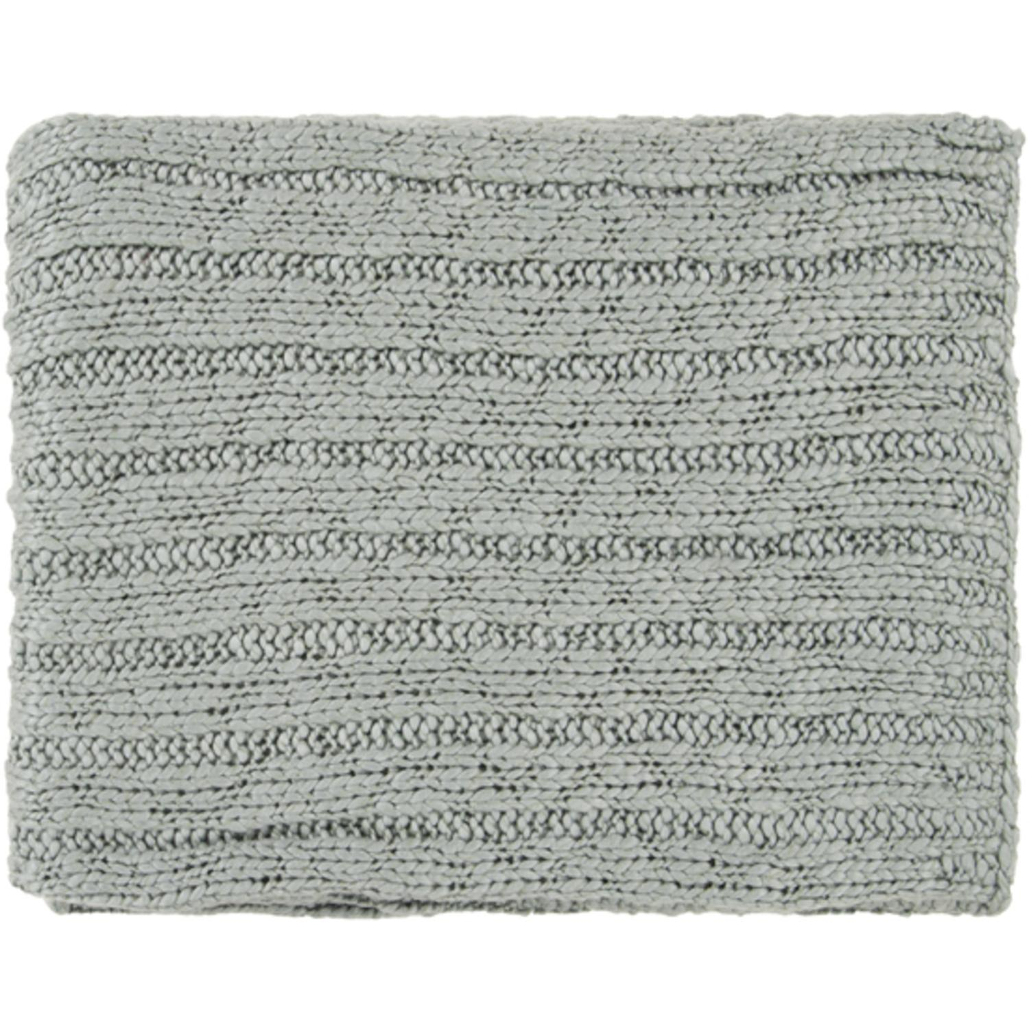 "50"" x 60"" Soft Chic Green-Gray Throw Blanket"