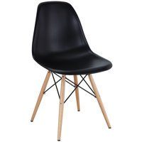 Modern Contemporary Kitchen Dining Side Chair Black