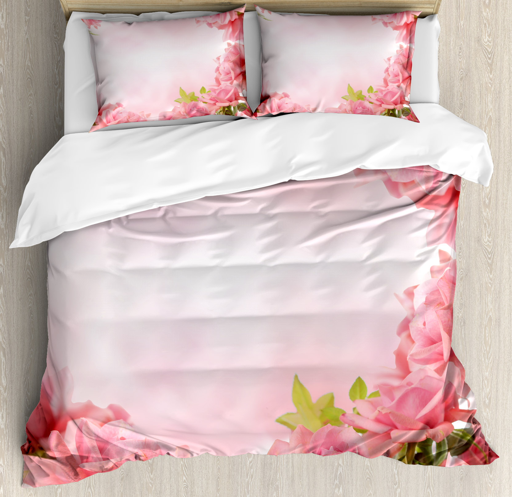 Valentine Queen Size Duvet Cover Set, Framework with Roma...