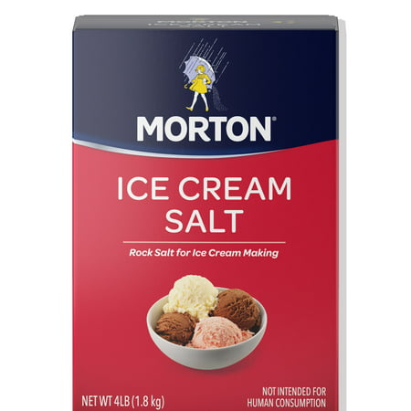 (3 Pack) Morton Ice Cream Salt, 4 Lbs