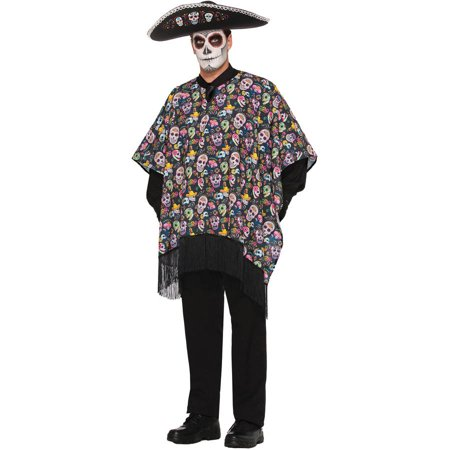 Day of Dead Serape Men's Adult Halloween - Day Of The Dead Mens Halloween Costume
