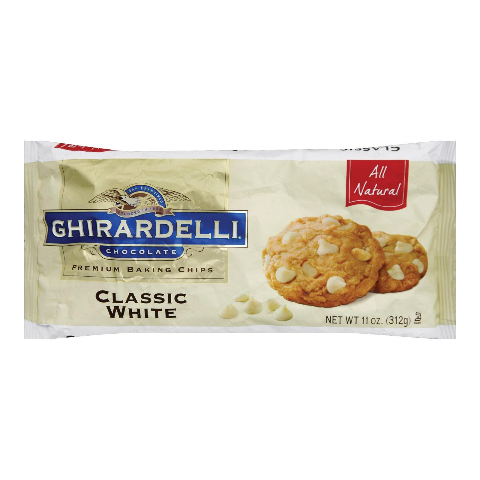 Ghirardelli Classic White Baking Chips - Pack of 12 - 11 Oz.