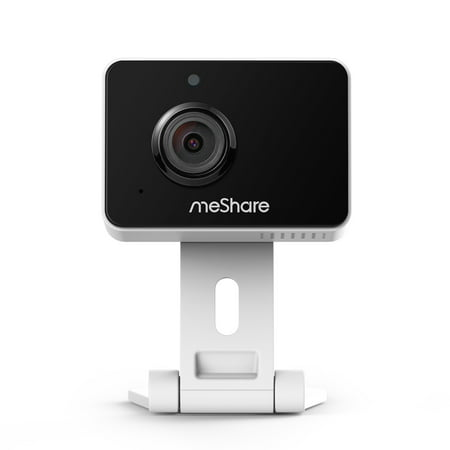 meShare 1080p Mini Wireless Two-way Audio Camera with Free 6-Month Cloud Service Plan and Cloud AI Security-Works with Google Assistant (Indoor Camera Hidden)
