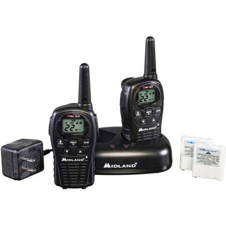 Midland Gmrs 2 Way Radio With 22 Channels Value Pack  Black