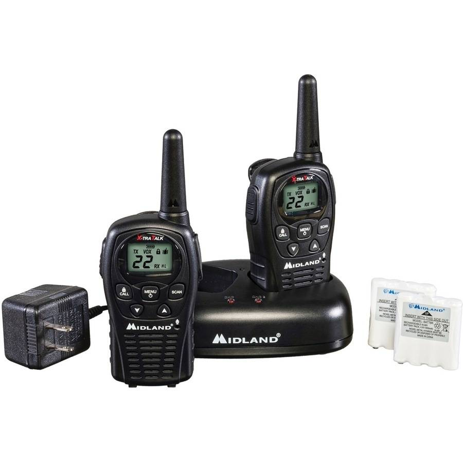 Midland GMRS 2-Way Radio with 22 Channels Value Pack, Black