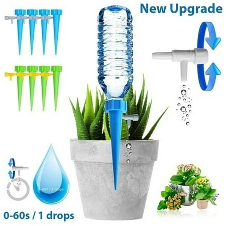 12pcs Automatic Garden Cone Watering Spike Water Control Drip Cone Spike Flower Plant Waterers Bottle Irrigation System Care Your